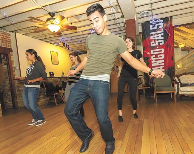 A salsa class at Satori Dance Studio. - JEFF FERGUSON