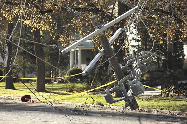 An estimated 250,000 customers initially lost power. - YOUNG KWAK