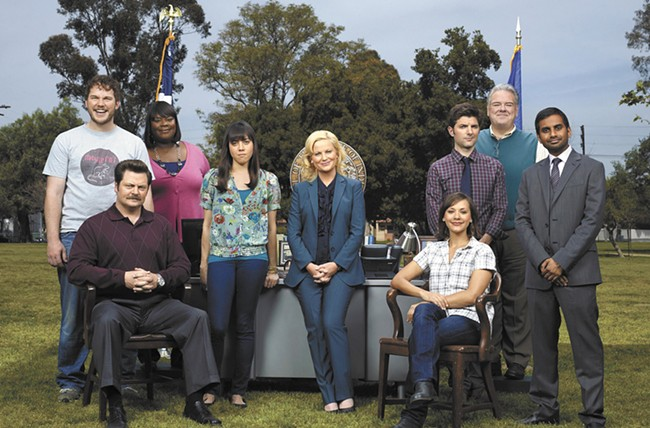 The Parks and Recreation cast.