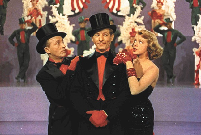 Bing Crosby (left), Danny Kaye and Rosemary Clooney in White Christmas.