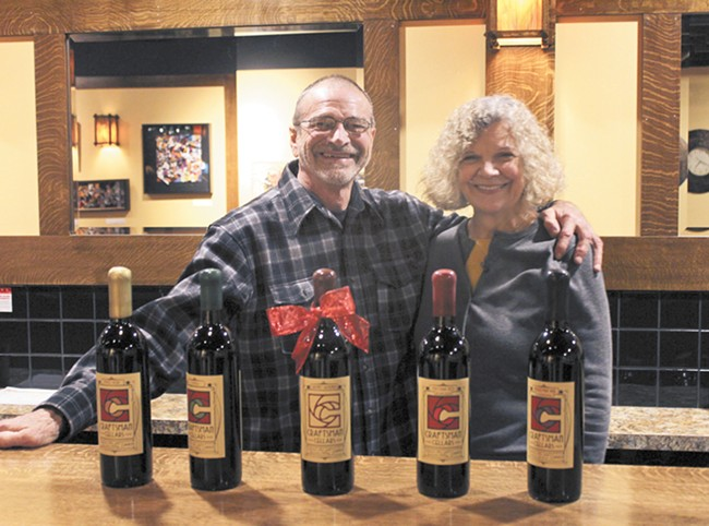 The Shelmans at Craftsman Winery's tasting room in Kendall Yards. - QUINN WESTERN