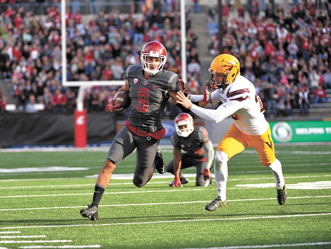 Receiver Gabe Marks and the potent WSU offense head to El Paso for the Sun Bowl. - WSU ATHLETICS
