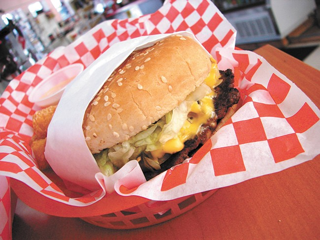 Love's serves up an array of different burgers in Athol, Idaho. - CARRIE SCOZZARO