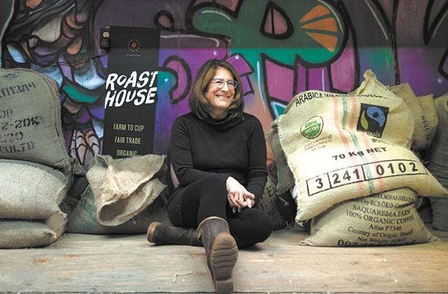 Deborah Di Bernardo, owner of Roast House Coffee, only uses organic, fair trade, shade-grown coffee. - KRISTEN BLACK