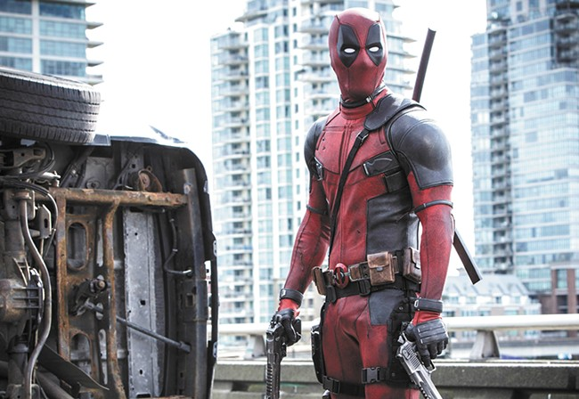 Ryan Reynolds stars in Deadpool.