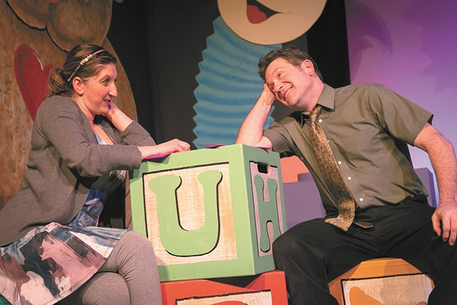 Kristen Nauditt and Todd Jasmin play the lead couple in Maybe Baby. - DAN BAUMER