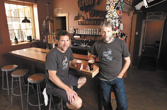 Two of Iron Goat's co-owners Greg Brandt, left, and Paul Edminster. - YOUNG KWAK