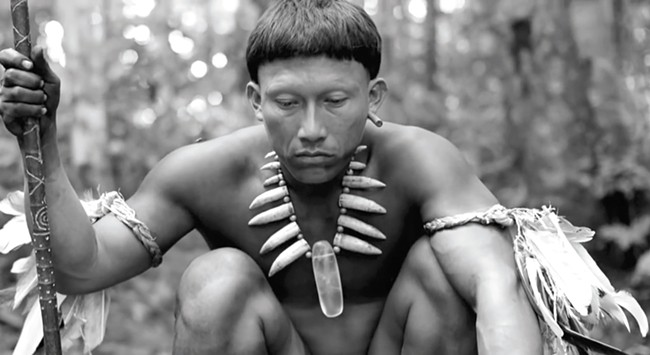 Embrace of the Serpent is shot entirely in black and white.