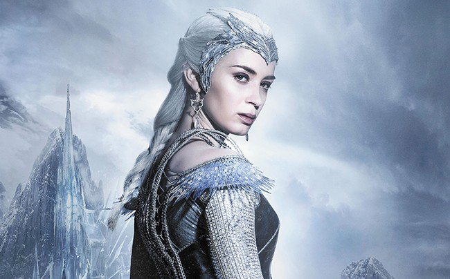 Emily Blunt plays the ice queen Freya in The Huntsman: Winter's War.
