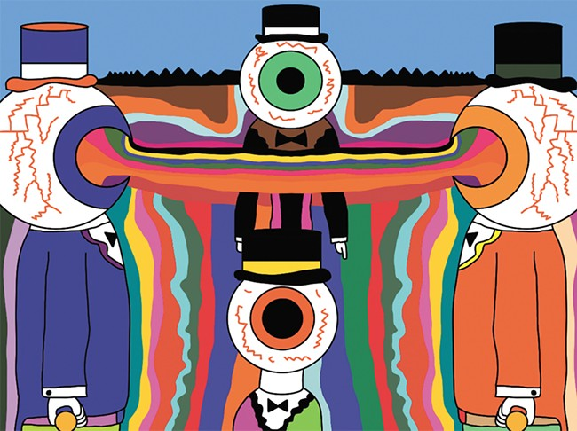 One of James Frye's pieces; eyeballs are a running theme.