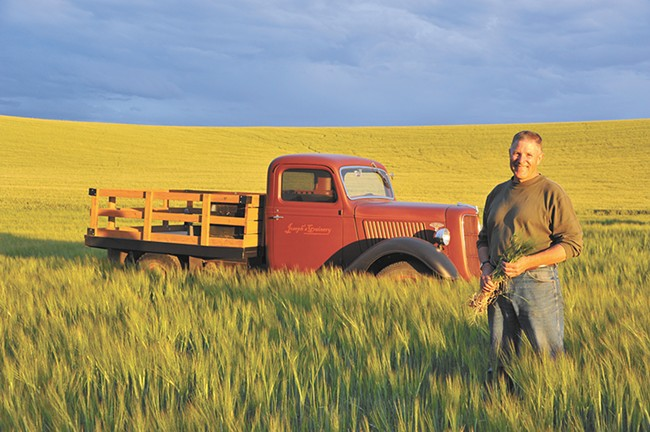 Bill Myers of Joseph's Grainery in Colfax is just one farmer whose grains are turning into local beer with the help of Palouse Pint. - JOSEPH GRAINERY PHOTO