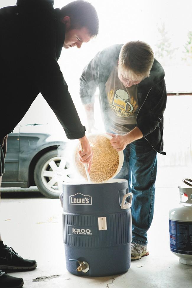 Inland Brewers Club's Adam Boyd doing work. - KRISTEN BLACK