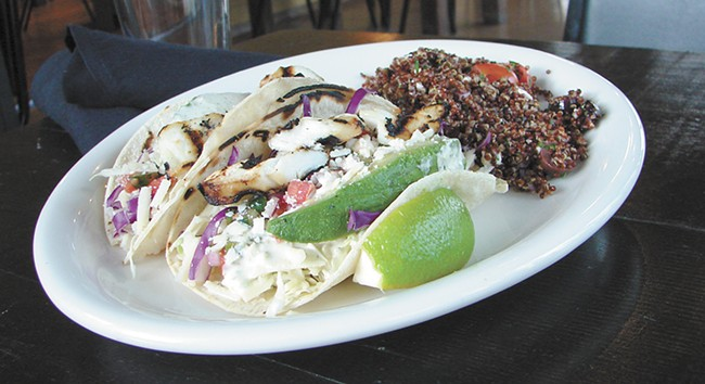 Fish tacos are just the begining of the electic menu at Loaf & Ladle. - CARRIE SCOZZARO