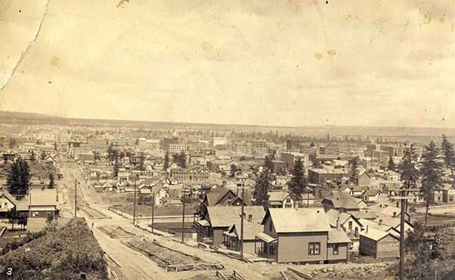 The City of Spokane Falls, circa 1890. - PHOTOS COURTESY OF THE NORTHWEST MUSEUM OF ARTS & CULTURE