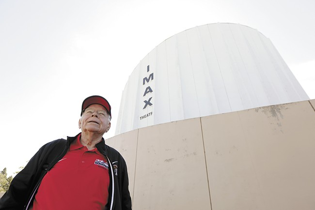 For the 14 years Hal McGlathery was Riverfront Park's manager, he championed the IMAX Theatre. Now he's trying to stop it from being demolished. - YOUNG KWAK