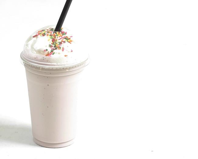 A Brain Freeze milkshake.