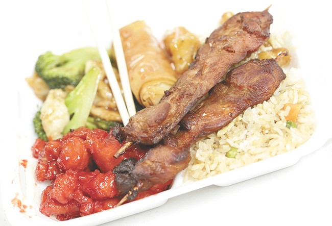 A lunch buffet to go from Hong Kong Express. - YOUNG KWAK