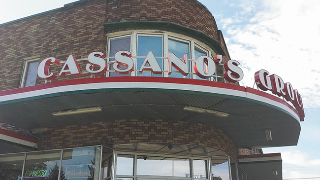 Cassano's 1940s-style storefront is recognizable locale of Chief Garry Park. - BLYTHE THIMSEN