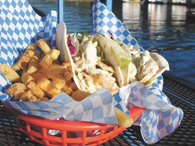 Fish tacos and fries - CARRIE SCOZZARO