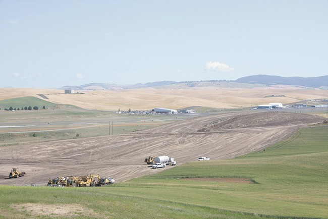Construction for the Pullman-Moscow Regional Airport's runway project started weeks ago. - WILSON CRISCIONE