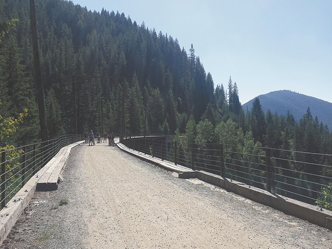 The Route of Hiawatha is one of the most scenic bike routes in North Idaho. - DAN NAILEN