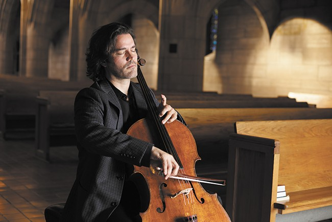 Zuill Bailey, the Northwest Bach Festival's artistic director, at St. John's Cathedral. - YOUNG KWAK