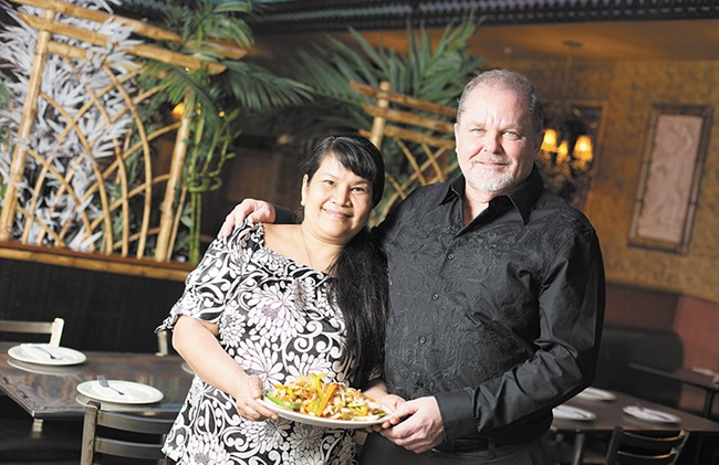 The Beryl, left, is part of a mini-empire of five local restaurants. Tom Burgess and wife Matavee, above, now own four local Thai restaurants. - YOUNG KWAK