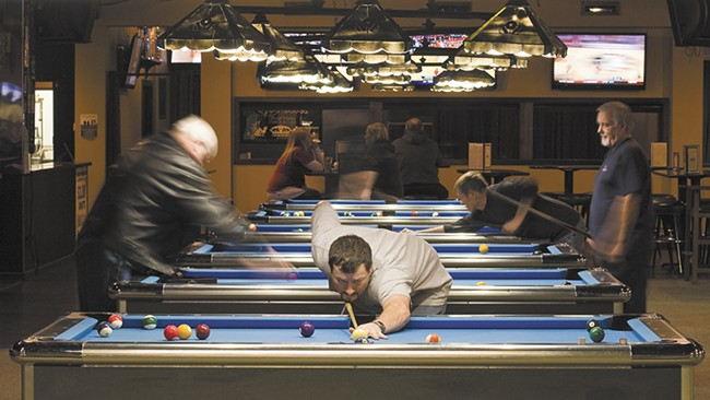 Fifteen pool tables are open for play at the Black Diamond. - JEFF FERGUSON
