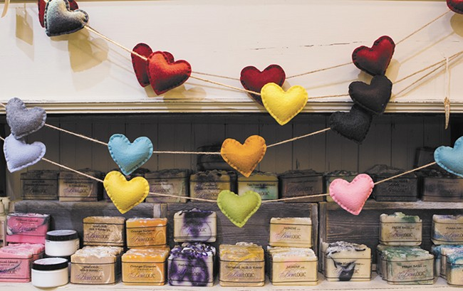 Locally made soaps by Bon Logic at displayed at TO MARKET. - EMMA ROGERS