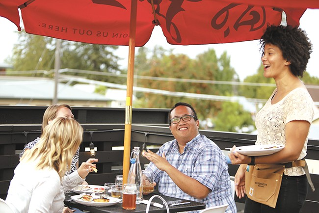 The rooftop patio has been a hit at Remedy since the restaurant opened last month. - YOUNG KWAK