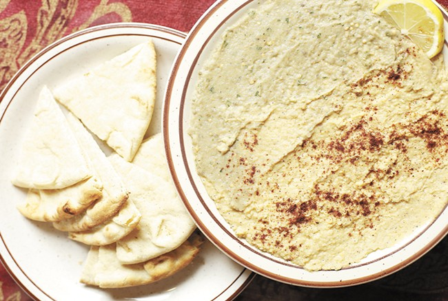 The Hummus and eggplant spread from White House Grill. - YOUNG KWAK