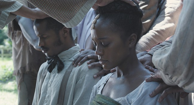 Aja Naomi King (center) shines in The Birth of a Nation.