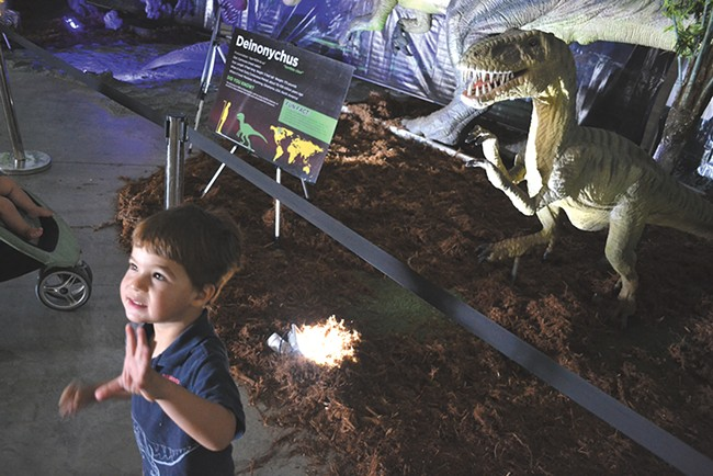 Jurassic Quest is set to fill about 100,000 square feet of the Convention Center with dinosaurs. - DAVID WERNER
