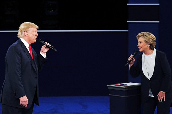 "Body-language experts suggest Trump's debate moves said ""I'm big, you are small."""