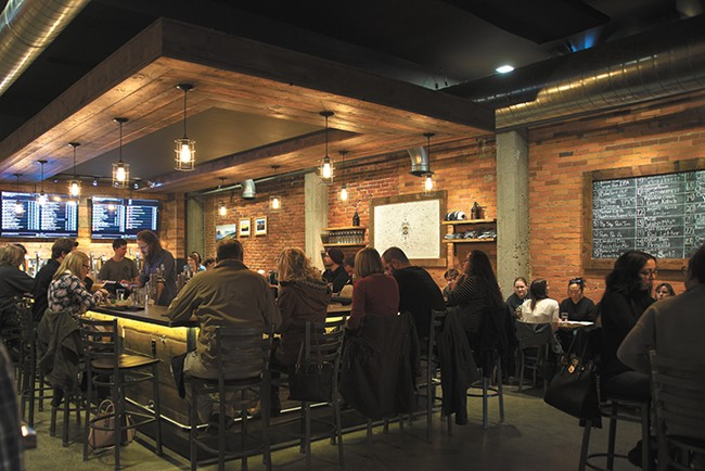 Tapped occupies the space between casual and high-end dining in Moscow. - TARYN PHANEUF