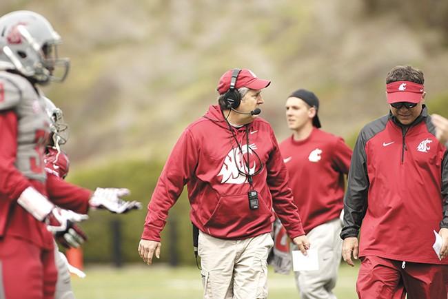 WSU coach Mike Leah has publicly defended his players arrested on assault charges this year. - YOUNG KWAK