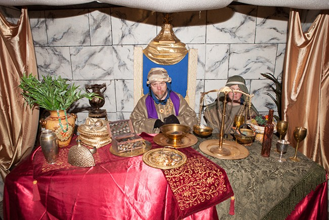 "The annual ""Journey to Bethlehem"" Nativity display, Dec. 2-4, features more than 11 live actors."
