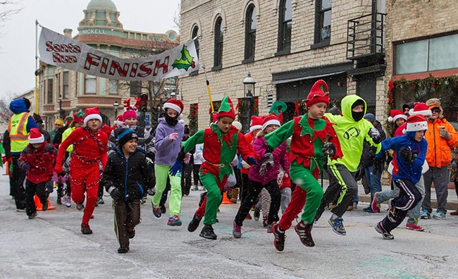 Jingle and jog during the YMCA of the Palouse's annual Jingle Bell Fun Run.