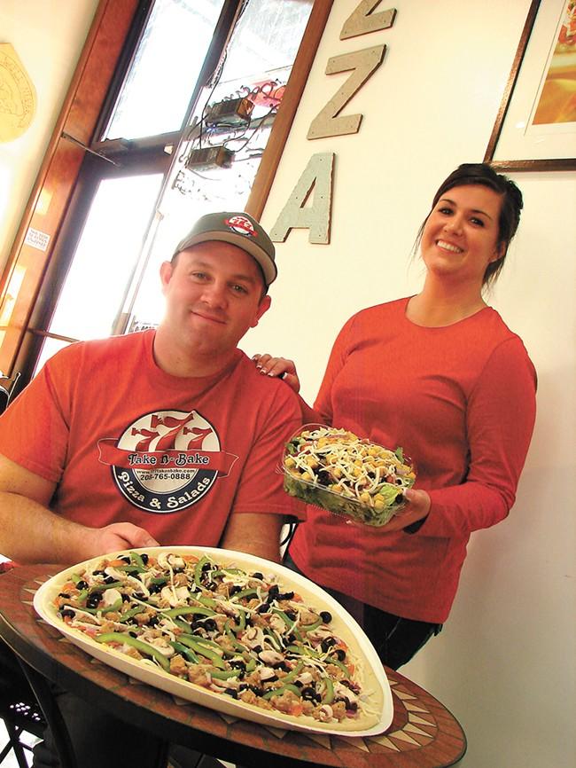 Scott and Kayli Hodgkinson of 777 Take-n-Bake. - CARRIE SCOZZARO