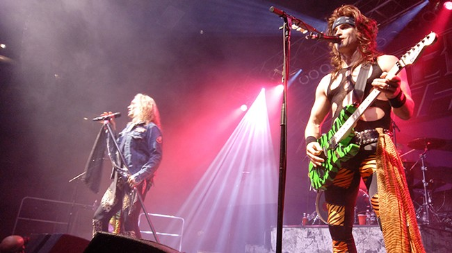 Steel Panther made a career out of playing '80s-style tunes and wearing the costumes of the day. - DAN NAILEN