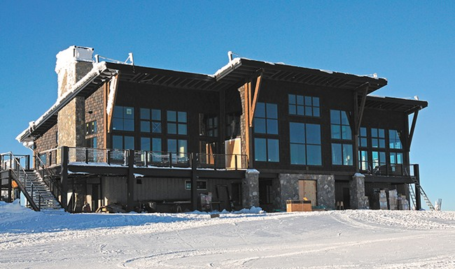 Schweitzer's new lodge brings food service and other amenities to the summit. - DIG CHRISMER