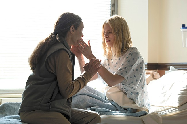 Brit Marling (right) created, wrote and stars in the OA.