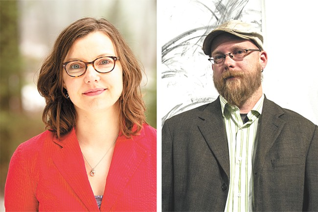 Sharma Shields (left) and Thom Caraway are both taking part in Writers Resist: Stand Together & Speak Out on Sunday, Jan. 15.