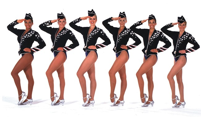 The Radio City Rockettes salute our next commander in chief. - RADIO CITY ENTERTAINMENT PHOTO
