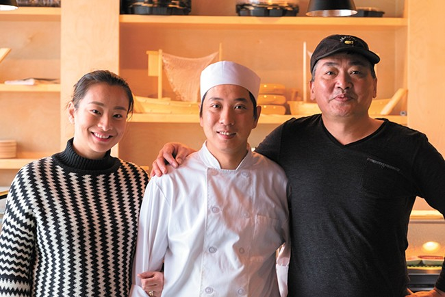 FROM LEFT: Xiaoyan Zhang, George Liu and Yufu Ge share an ownership in Izumi. - HECTOR AIZON