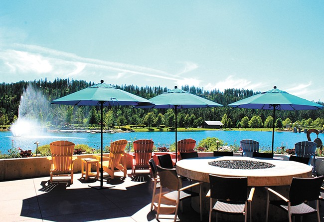 The view from the patio at the new Anthony's in Coeur d'Alene.