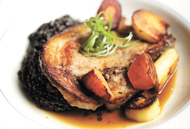 Caster Fry's pork belly porchetta