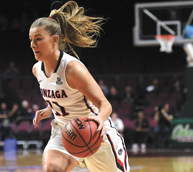 Laura Stockton is part of a team that took some time to find its way — just in time for the NCAA tournament. - KYLE TERADA