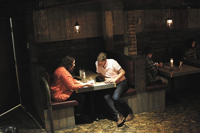 Beth Simon and her husband, Jim, settle in at Hogwash Whiskey Den. - YOUNG KWAK