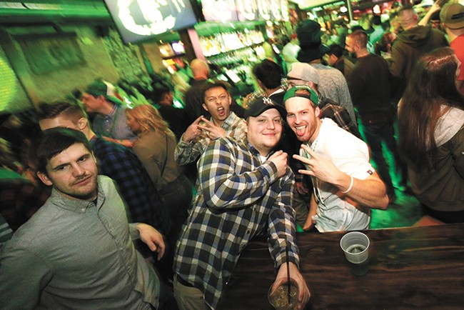 Some revelers who grew up in Spokane say they don't recall a nightlife scene like the one on Main and Division. - YOUNG KWAK